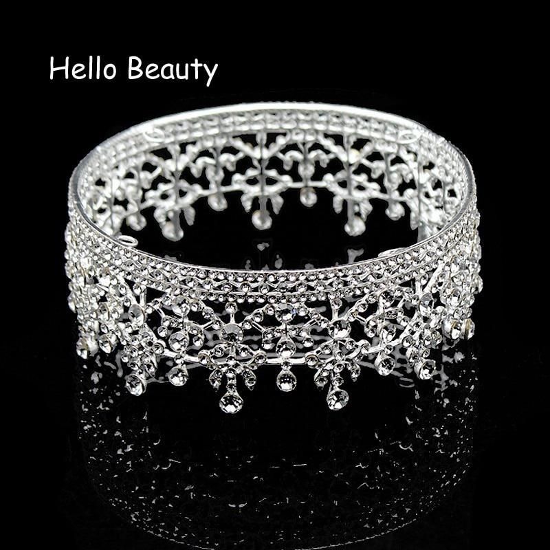 Vintage Color Silver Silver Crystal, Raundin e plotë, Mbretëresha - Bizhuteri të modës - Foto 3