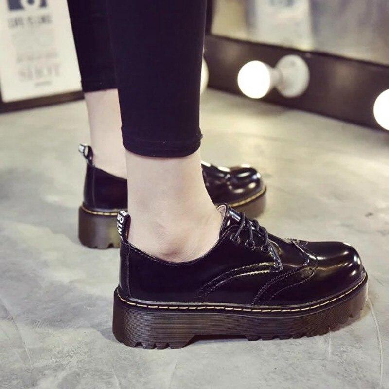 up Dames Cm Noir En Femmes Cootelili De 40 Chaussures Plat 4 Femme 2018 vert Dentelle Pu 35 Luxe Brogue Cuir Appartements Plate forme Talon Designer HgqU7A