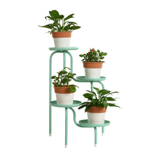 Creative iron creative flower pot stand living room floor balcony multi flower stand