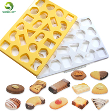 Geometry Cookie Cutter Geometric Biscuit Mold Cuts Out Up To 24 Pieces At Once Square Fondant Chocolate Mould Bakeware