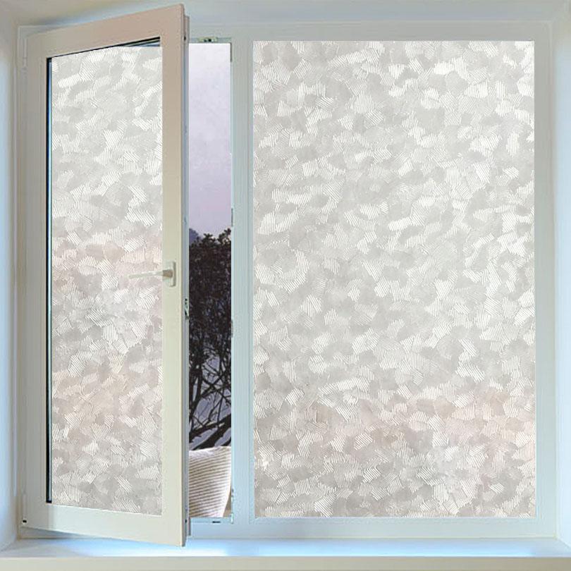 3D Static Glass Film Window Grilles Small Diamond Geometric Glass Paste  Stickers Bathroom Window Film To