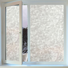 45x100cm geometric pattern static cling opaque glass film antiuv vinyl frosted window film privacy sticker