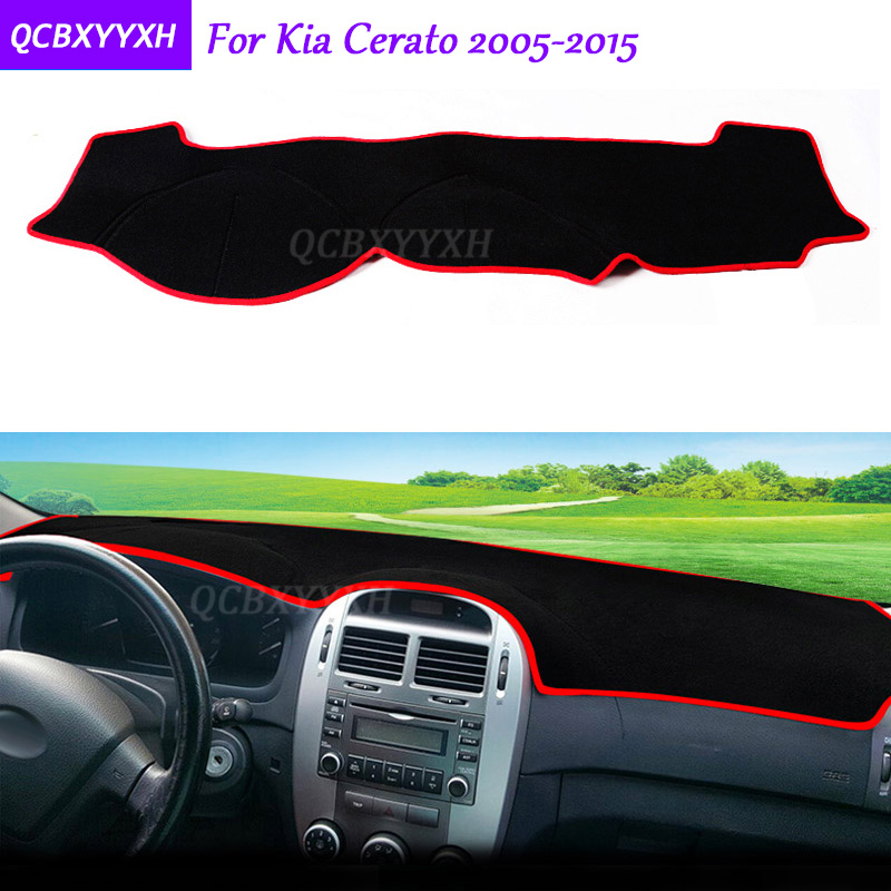 For KIA Cerato 2005-2015 Dashboard Mat Protective Interior Photophobism Pad Shade Cushion Car Styling Auto Accessories