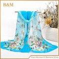 2016 cachecol feminino das mulheres inverno quente lenços borboleta moda estilo chinês veludo chiffon bohemia frete grátis