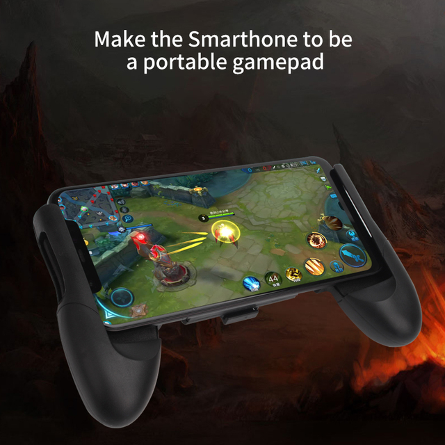 Portable Gamepad For PUBG Mobile Gaming Controller Extended Handle Holder Game Grip For iPhone Android Smartphones 4.5-6′ Inch