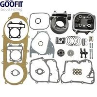 GOOFIT 2016 High Performance 57 4mm Bore Scooter 150cc Gy6 Engine Rebuild Kit Cylinder Kit Cylinder