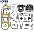 GOOFIT 2016 High Performance 57.4mm Bore Scooter 150cc Gy6 Engine Rebuild Kit Cylinder Kit Cylinder Head Chinese Group-4