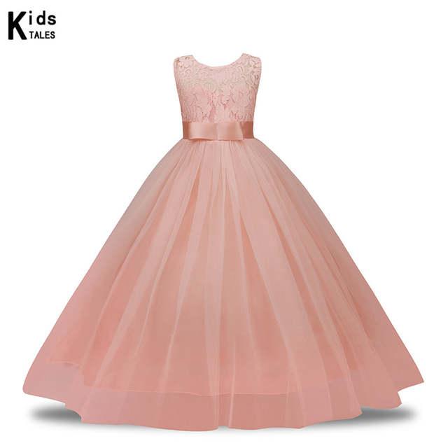 3a5276e40080 Online Shop Summer Girl Lace Dress Long Tulle Teen Girl Party Dress Elegant  Children Clothing Kids Dresses For Girls Princess Wedding RQ-249