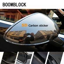 Бумблок 4*60 ''5D наклейки из углеродного волокна для автомобилей Mercedes W204 W210 AMG Benz Bmw E36 E90 E60 Fiat 500 Volvo S80 аксессуары
