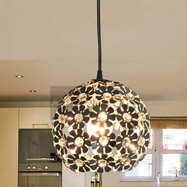 with Crystal Shade Hanging  Modern LED Pendant Light Lamp For Home Living Room, Lustres e Pendentes Lamparas 40cm acrylic round hanging modern led pendant light lamp for dining living room lighting lustres de sala teto