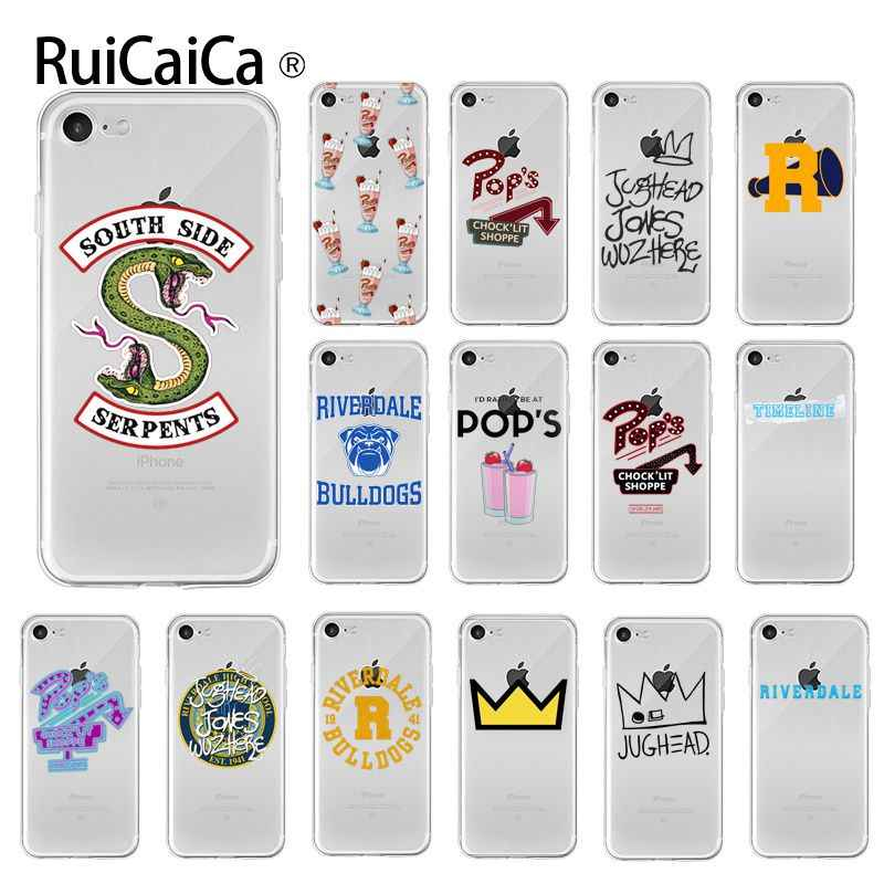 Ruicaica Riverdale TV South Side Serpents Soft Silicone TPU Phone Cover for iPhone X XS MAX  6 6s 7 7plus 8 8Plus 5 5S SE XR