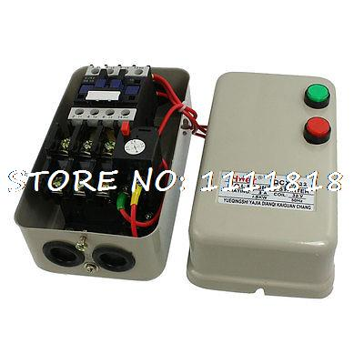 Three Phase AC Contactor Motor Control Magnetic Starter 36V Coil 3A 1.5KW chint electromagnetism starter magnetic force starter qc36 10t motor starter phase protect magnetic force switch