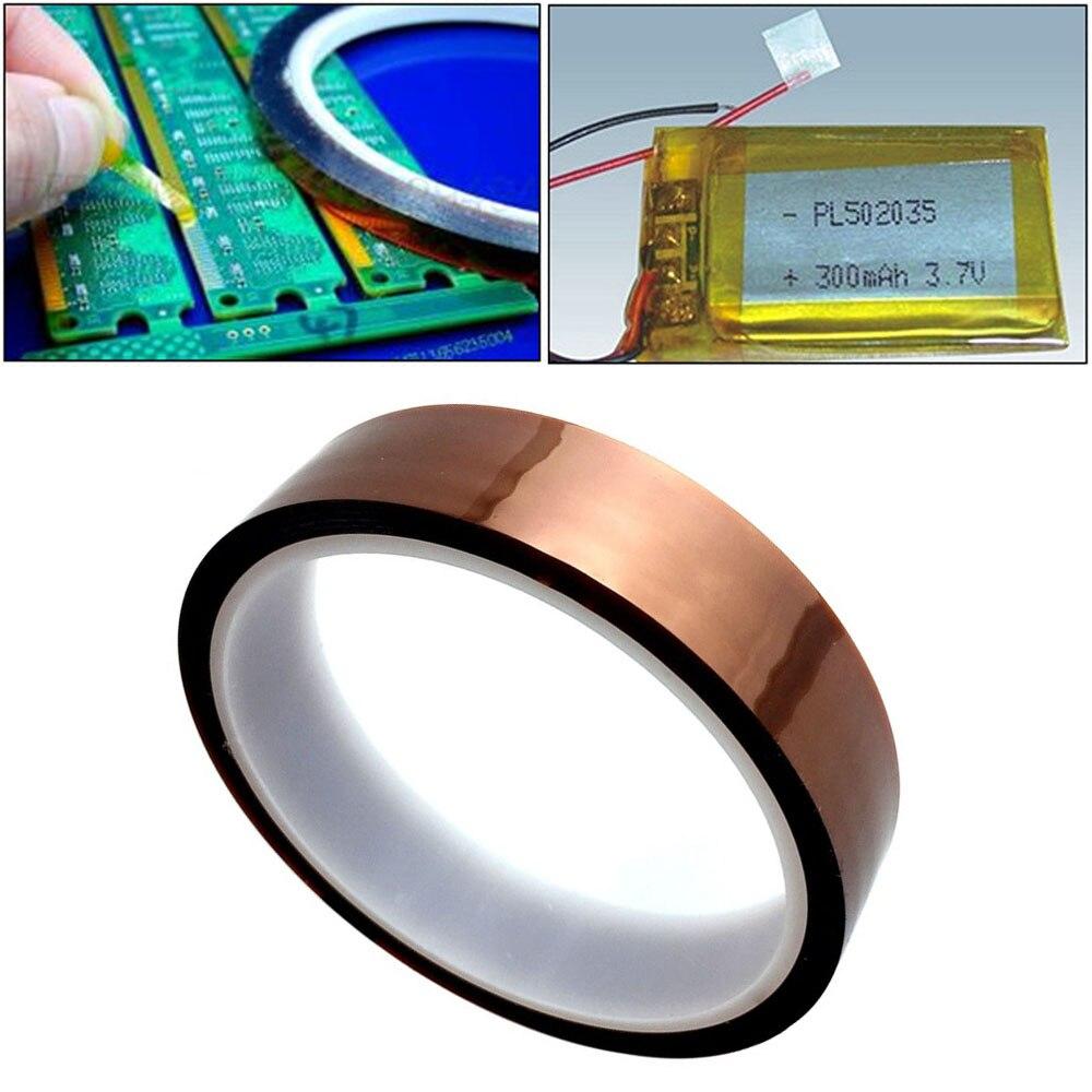 цена на 1Pc Width 10/12/15/18/20/25/30mm Length 30M Heat Resistant Polyimide Tape High Temperature Adhesive Insulation Kapton Tape