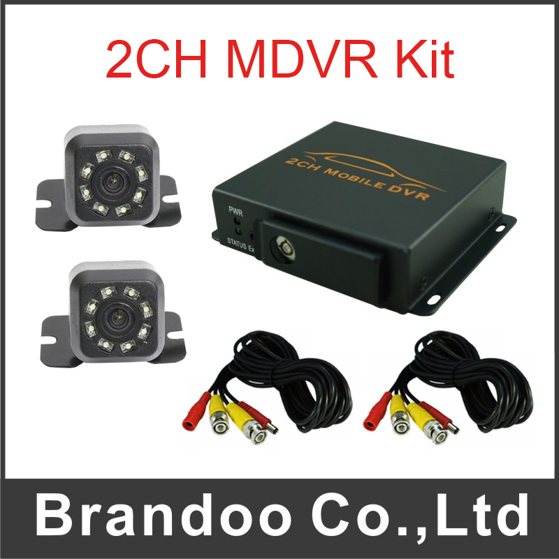 Free shipping 2 channel TAXI DVR kit, including 2 IR car camera and 5m video cables цена 2017
