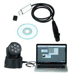DMX USB Signaal Conversie USB naar DMX Interface-Adapter Kabel 110cm Lengte Podium Licht PC DMX512 Controller Dimmer