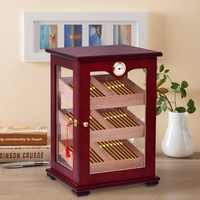 Giantex столешница дисплей Humidor 150 сигар шкаф для хранения увлажнитель гигрометр Новый шкаф для гостиной HW56599