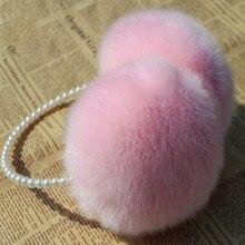 Меховые наушники с кроличьим мехом, наушники для ушей, теплые наушники для ушей, зимние уличные женские теплые повязки на голову, рождественские подарки