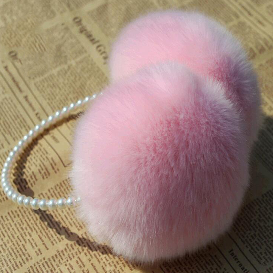 Rabbit Fur Earmuffs Ear Muffs Ear Warmers Earmuffs Earflap Winter Outdoor Women Warmer Headband Christmas Gifts