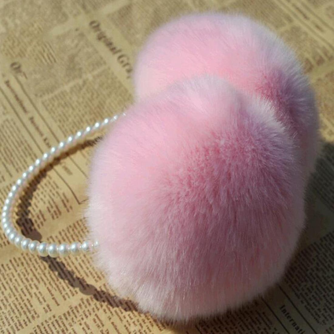 Rabbit Fur Earmuffs Ear Muffs Ear Warmers Earmuffs Earflap Winter Outdoor Women Warmer Headband Christmas Gifts