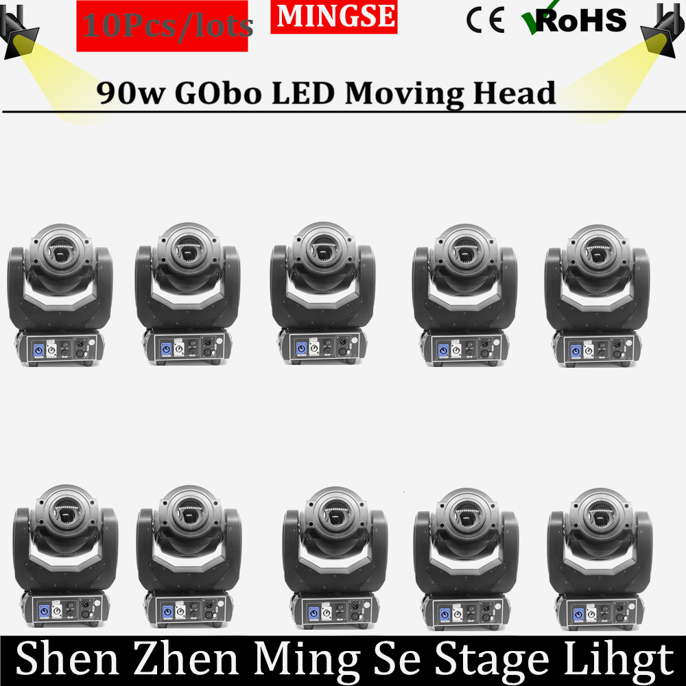 10pcs/lots 90w led moving head spot gobo light lighting 90w LED gobo pattern RGBW 4in1 LED dmx spot moving head light