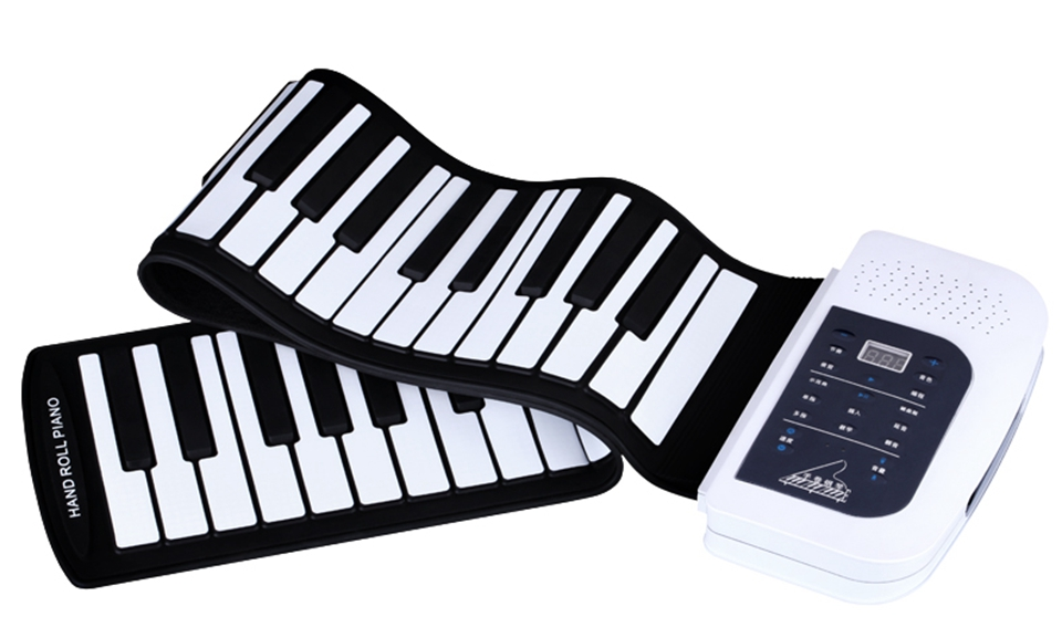 Portable Electronic Piano 61 Keys Silicone Rubber Keys with Built-in Speaker Digital Piano Musical Instrument недорго, оригинальная цена