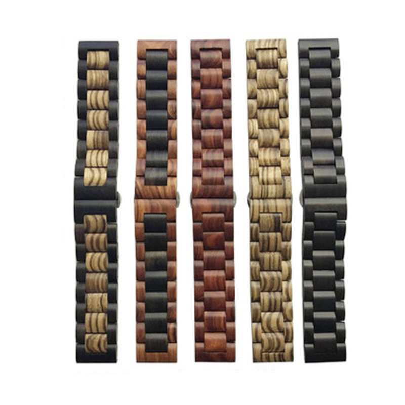 Solid wood material watchband strap 22mm 20mm for Samsung Gear sport S2 S3 s4 Frontier Band amazfit bip Pebble fitbit versa motoSolid wood material watchband strap 22mm 20mm for Samsung Gear sport S2 S3 s4 Frontier Band amazfit bip Pebble fitbit versa moto
