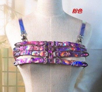 Handcrafted Vinyl Caged Bra Lingerie Belts2