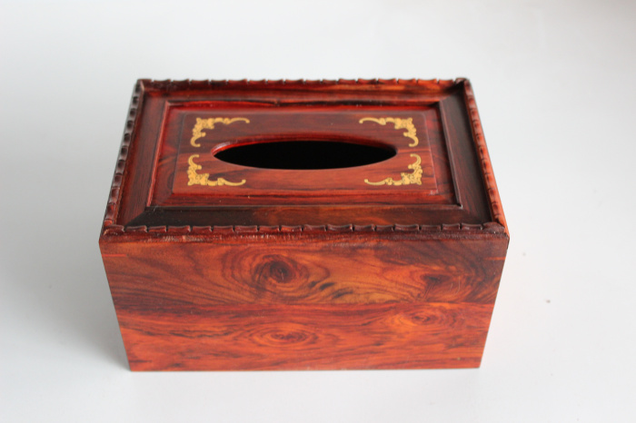 Red acid intermediate sub-tissue box napkin box inlaid with Huang Yang  grade mahogany box pumping tray Furniture