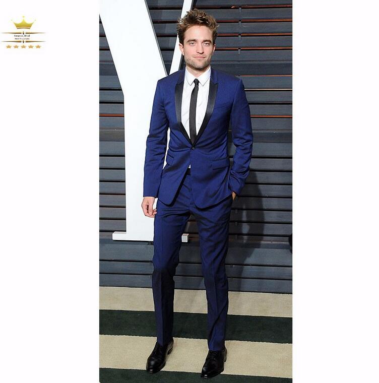 Online Shop Best Selling Groomsmen One Button Slim Fit Suit Royal ...
