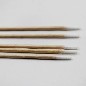 Image 2 - Palillos de algodón para tatuaje con cabeza de madera puntiaguda, belleza profesional para tatuaje bastoncillo de algodón, para cejas, labios, 100 unidades por lote