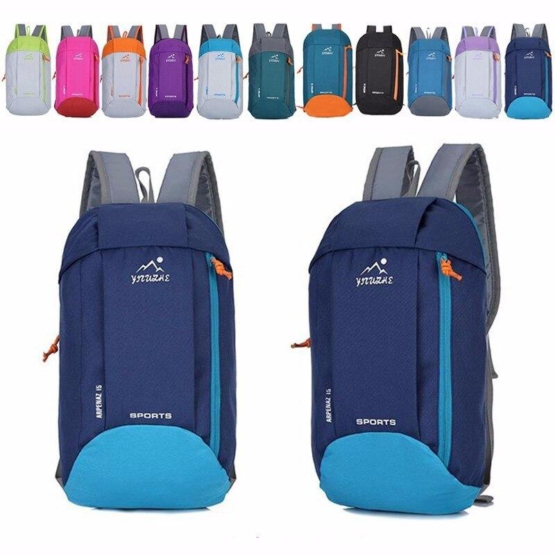где купить 10L Outdoor Sports Light Weight Waterproof Backpack Travel Hiking Bag Zipper Adjustable Belt Camping Knapsack Men Women Child дешево