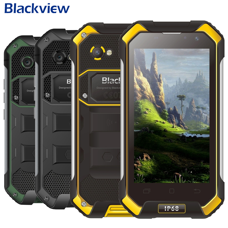 Blackview BV6000 Smartphone 4G LTE Waterproof IP68 4.7 HD MT6755 Octa Core Android 6.0 Mobile Cell Phone 3GB RAM 32GB ROM 13MP image