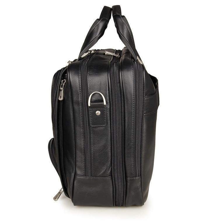 HTB1SrDDelGE3KVjSZFhq6AkaFXaF MAHEU Vintage Leather Mens Briefcase With Pockets Cowhide Bag On Business Suitcase Crazy Horse Leather Laptop Bags 2019 Design