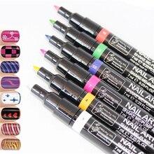 Hot Sale 16 Colors Women 3D DIY Nail Art Pen Painting Design
