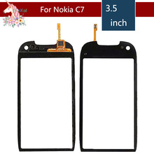 3.5 For Nokia C7 C7-00 LCD Touch Screen Digitizer Sensor Outer Glass Lens Panel Replacement 3 5 for nokia n8 n 8 lcd touch screen digitizer sensor outer glass lens panel replacement