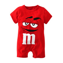2017 New fashion baby boys girls clothes newborn blue and red Long sleeve Cartoon printing Jumpsuit Infant clothing set
