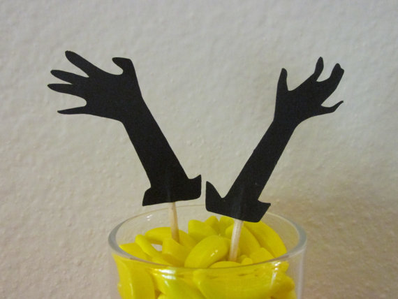 zombie cupcake toppers birthday party appetizer picks halloween toothpicks decor