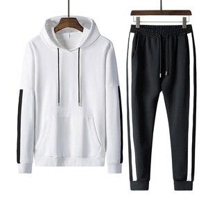 Rlyaeiz, высококачественный спортивный костюм для мужчин, 2018, осенняя спортивная одежда, мужской спортивный костюм, полосатые толстовки с капю...