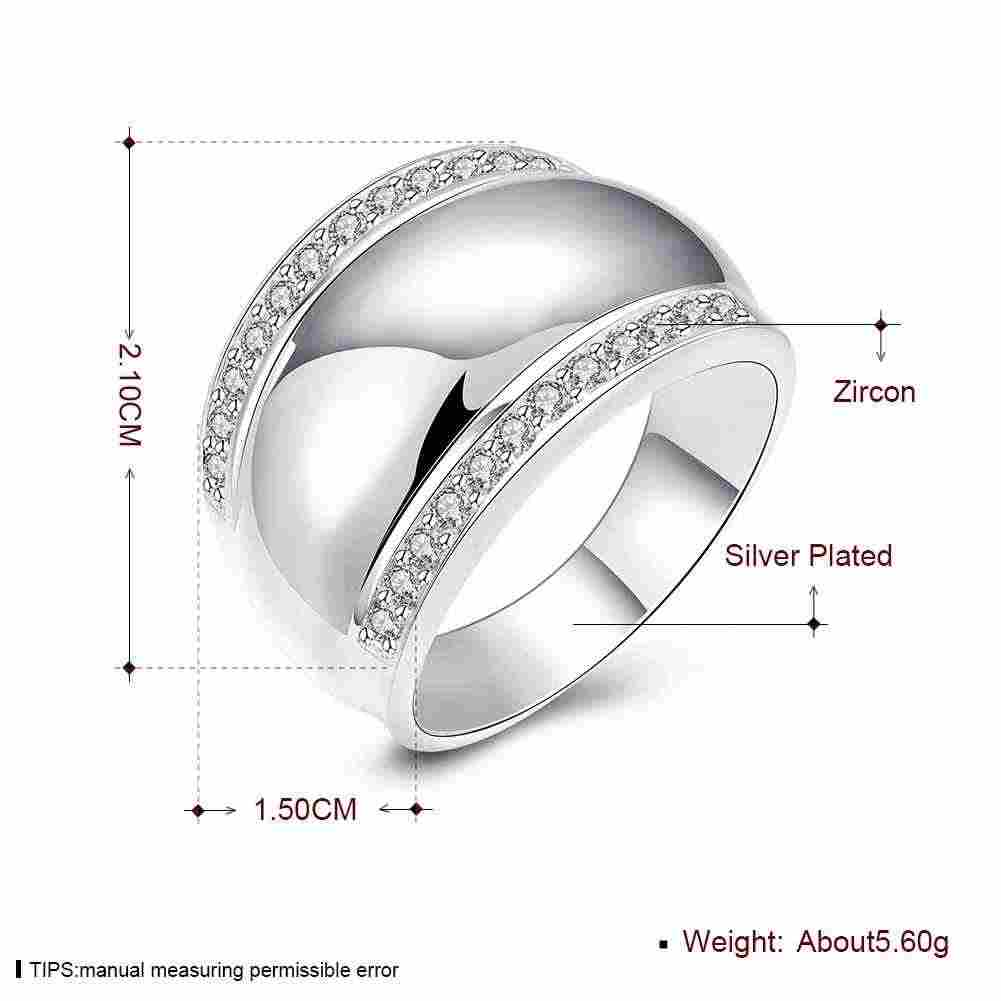 67fc50e4ac618 Thumb ring Silver Smooth surface Rings For Women/Man Invisible Setting  Crystal Wedding Ring Jewelry Men's Birthday Party Ring