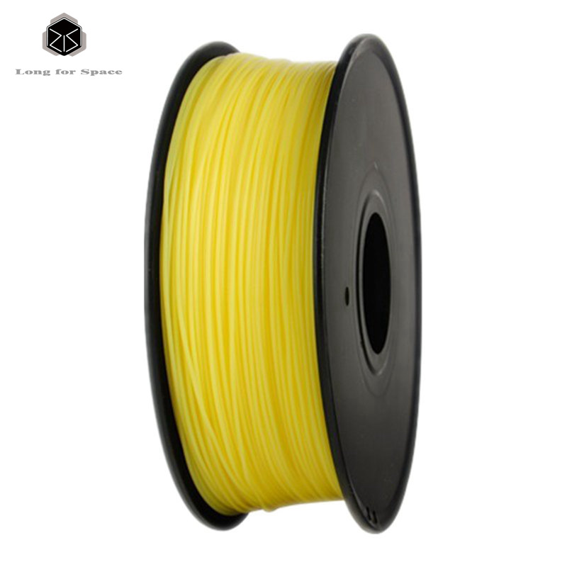 Yellow 1.75mm PLA 3D Printer Filament 1Kg New White PLA/ABS Plastic Rubber Consumables Material 3D Printer Filament For 3D Pen  biqu new spool filament mount rack bracket for pla abs filament 3d printer