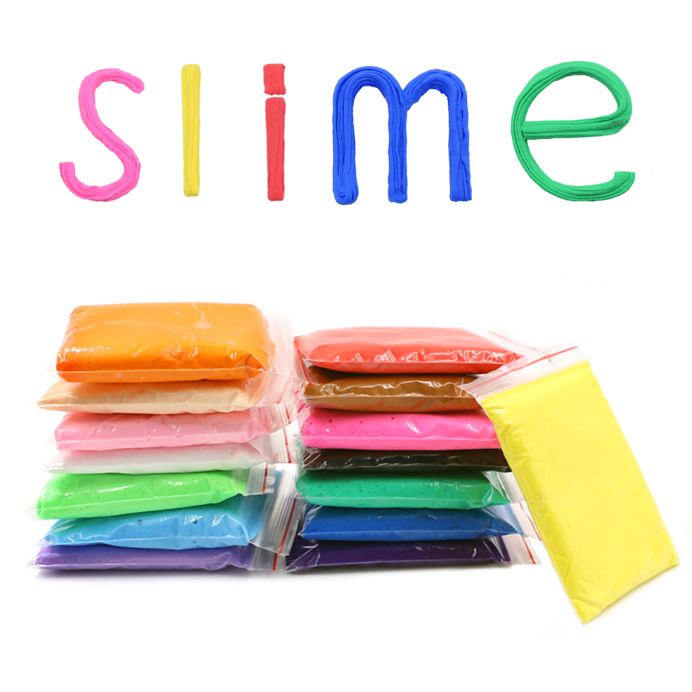 Kids Toys Slime Fluffy Foam Clay 15 Colors Charms Slime Ball Kit Soft Polymer Clay DIY Antistress Toys for Children