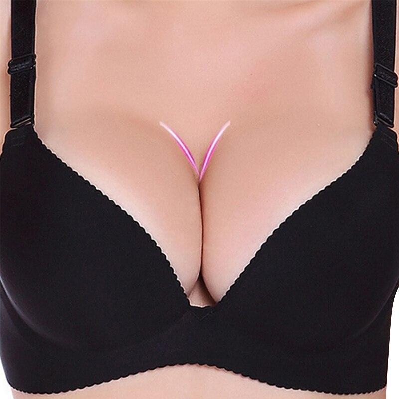 ECMLN Sexy Deep U Cup Bras For Women Push Up Lingerie Seamless Bralette Backless