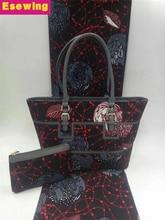 e2f628df9481 2018 woman handbag african wax bag set 100%cotton ankara prints fabric  fatory price for women party dresses 6yard lot wholesale