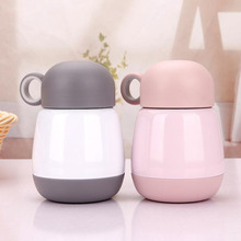 Garrafa Termica Stainless Steel Vacuum Cup Belly Cups Portable Thermos Mug 245ml Cartoon Candy Colors Termo