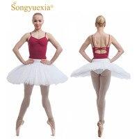 SONGYUEXIA Woman White Practice And Rehearsal Professional Tutu Ballet Skirt Half Tutu Skirt For Woman White