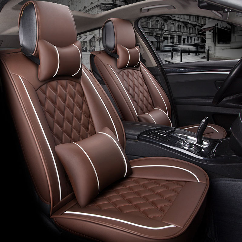 (Front +Rear) Special Leather Car Seat Cover auto seats cushion for volkswagen vw polo 6 ...