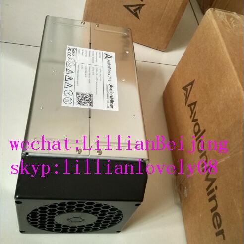 Used Avalon 741 7.3T SHA256 ASIC BTC Bitcoin mining machine Miner A741 with PSU power supply(China)