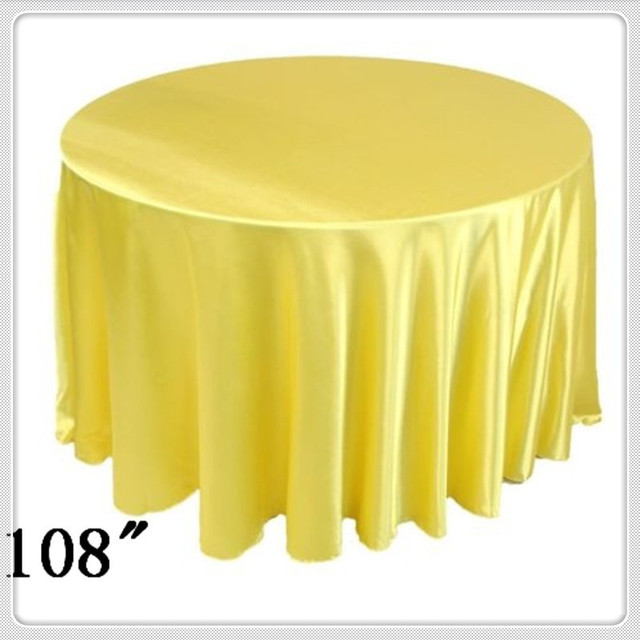 10pcs 108u0027u0027 Round Satin Table Cloths Round Table Cloths For Linen Tablecloth