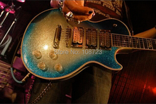 Ace Frehley Signature Les Elektrische Gitarre Paul Blau Burst Silber Sparkle Body Ebenholz Griffbrett
