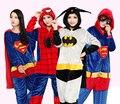2016 New The Avengers Superman Cosplay Costume Batman Flannel Warm Pigiama Spiderman Adult Unisex Onesies Pajamas Sleepwear